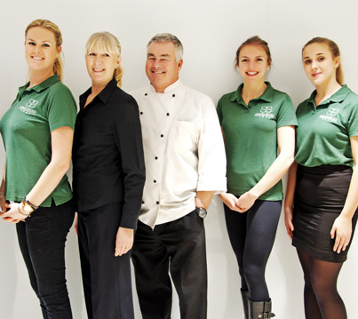 Simon Smith and his catering team